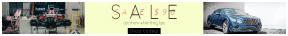 Leaderboard web banner template for sales - #banner #businnes #sales #CallToAction #salesbanner #silver #shadow #luxury #mechanic #vehicle