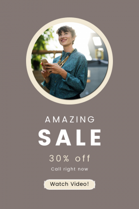 Portrait design template for sales - #banner #businnes #sales #CallToAction #salesbanner #texting #florets #networking #female #and #wavy #ribbon