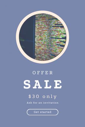 Portrait design template for sales - #banner #businnes #sales #CallToAction #salesbanner #circular #technology #script #binary #source #computer