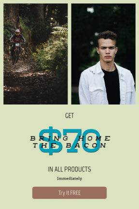 Portrait design template for sales - #banner #businnes #sales #CallToAction #salesbanner #mountain #white #cycling #shirt #rider #hair #pose #short