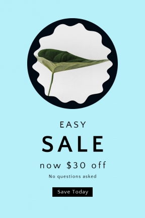 Portrait design template for sales - #banner #businnes #sales #CallToAction #salesbanner #plant #indoor #beautiful #white #swirly #rectangles #ovals #minimalistic #wallpaper