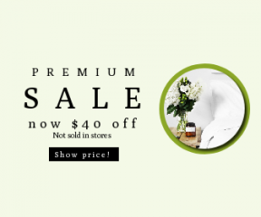 Square large web banner template for sales - #banner #businnes #sales #CallToAction #salesbanner #candle #bouquet #bed #interior #design #flowers #white #side #wooden #table