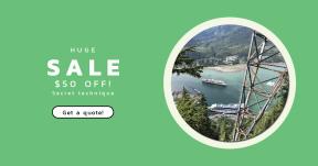 Card design template for sales - #banner #businnes #sales #CallToAction #salesbanner #geometrical #sea #shape #ocean #lake #circular #beach #geometric