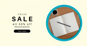 Card design template for sales - #banner #businnes #sales #CallToAction #salesbanner #work #cup #agenda #coffee #notebook #book #planner #note #planning