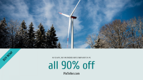 FullHD image template for sales - #banner #businnes #sales #CallToAction #salesbanner #cloud #architecture #windmill #tree #forest #wind #turbine #sky