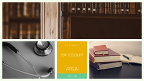 FullHD image template for sales - #banner #businnes #sales #CallToAction #salesbanner #equipment #stethoscope #library #writing #desk #old