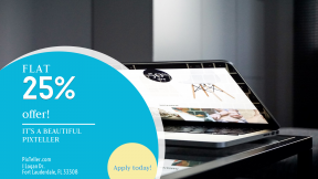 FullHD image template for sales - #banner #businnes #sales #CallToAction #salesbanner #hand #macbook #laptop #career #person #teen