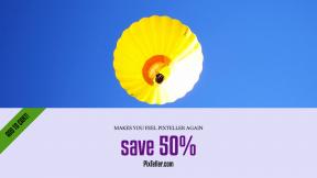 FullHD image template for sales - #banner #businnes #sales #CallToAction #salesbanner #balloon #globo #air #aeronave #sky #aerostática #aerostático #blue #yellow #flying