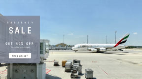 FullHD image template for sales - #banner #businnes #sales #CallToAction #salesbanner #landing #emirate #transportation #sky #a380 #airport #aviation #aircraft