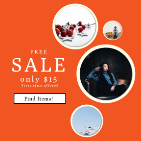 Image design template for sales - #banner #businnes #sales #CallToAction #salesbanner #red #woman #berries #fashion #adventure #poc #white #decor #geometric