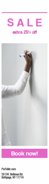 Skyscraper wide web banner template for sales - #banner #businnes #sales #CallToAction #salesbanner #teacher #wall #sketch #person #holding #white