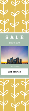 Skyscraper wide web banner template for sales - #banner #businnes #sales #CallToAction #salesbanner #dark #angle #color #symmetry #wrapping
