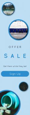 Skyscraper wide web banner template for sales - #banner #businnes #sales #CallToAction #salesbanner #minimalism #mountain #equipment #pill #dark #man