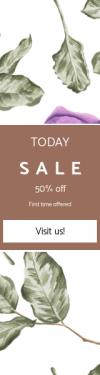Skyscraper wide web banner template for sales - #banner #businnes #sales #CallToAction #salesbanner #petal #flower #purple #lilac #plant #lavender #flora #design