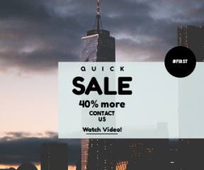 Square large web banner template for sales - #banner #businnes #sales #CallToAction #salesbanner #storm #shape #black #building #cityscape #view #cloudy #business #tower #circular