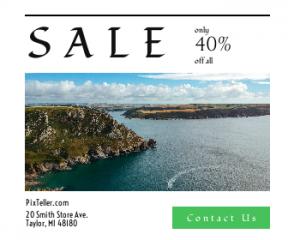 Square large web banner template for sales - #banner #businnes #sales #CallToAction #salesbanner #mountain #rock #ripple #coastline #england #sea #coast