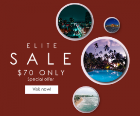 Square large web banner template for sales - #banner #businnes #sales #CallToAction #salesbanner #hotel #architecture #trees #urban #holiday #sun #parking #shore