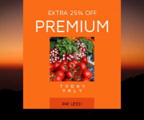 Square large web banner template for sales - #banner #businnes #sales #CallToAction #salesbanner #sunset #silhouette #orange #vegetarian #morning
