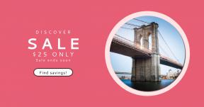 Card design template for sales - #banner #businnes #sales #CallToAction #salesbanner #bridge #stars #bands #rectangles #strips #city #architecture
