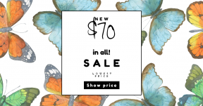 Card design template for sales - #banner #businnes #sales #CallToAction #salesbanner #butterfly #invertebrate #moths #organism #moth #leaf #footed #and #butterflies