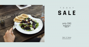 Card design template for sales - #banner #businnes #sales #CallToAction #salesbanner #food #bowl #salad #gourmet #holding #beetroot #hand #vegetable #cuisine