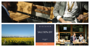 Card design template for sales - #banner #businnes #sales #CallToAction #salesbanner #tablet #coffee #online #talking #windmill #internet #suit