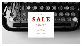 FullHD image template for sales - #banner #businnes #sales #CallToAction #salesbanner #white #old #black #story #writer #typewriter #write #and #publish