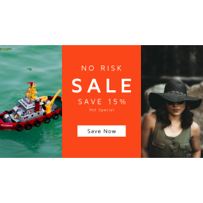 Image design template for sales - #banner #businnes #sales #CallToAction #salesbanner #tug #accessory #confidently #miniature #hat