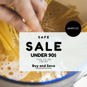 Image design template for sales - #banner #businnes #sales #CallToAction #salesbanner #pot #spaghetti #hand #homemade #preparation #capellini #cook