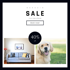 Image design template for sales - #banner #businnes #sales #CallToAction #salesbanner #table #john #canine #puppy #state #portrait #brown