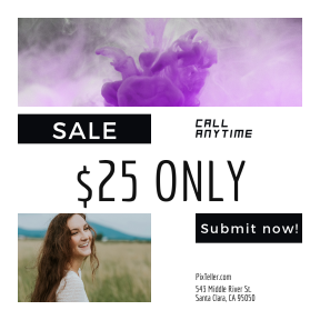 Image design template for sales - #banner #businnes #sales #CallToAction #salesbanner #tag #ink #liquid #portrait #fashion #pink #mixed #grass