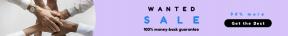 Leaderboard web banner template for sales - #banner #businnes #sales #CallToAction #salesbanner #geometrical #skin #group #hands #workplace #sleeves #unity #diversity #business