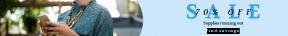 Leaderboard web banner template for sales - #banner #businnes #sales #CallToAction #salesbanner #phone #interaction #on #internet #smiling #blouse #female #mobile #telecommunication #brunette