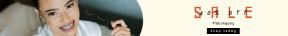 Leaderboard web banner template for sales - #banner #businnes #sales #CallToAction #salesbanner #female #hand #asian #portrait #happy #braces