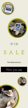 Skyscraper wide web banner template for sales - #banner #businnes #sales #CallToAction #salesbanner #new #meeting #tech #iphone #coffee
