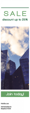 Skyscraper wide web banner template for sales - #banner #businnes #sales #CallToAction #salesbanner #looking #tall #building #reflection #business #job