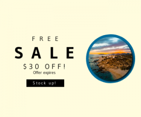 Square large web banner template for sales - #banner #businnes #sales #CallToAction #salesbanner #coastal #hotel #beach #aerial #mountain #sea