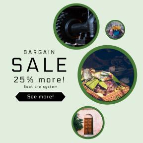 Image design template for sales - #banner #businnes #sales #CallToAction #salesbanner #plant #folk #floral #cash #vintage #equipamento