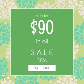 Image design template for sales - #banner #businnes #sales #CallToAction #salesbanner #pattern #leaf #green #design #wallpaper