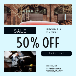 Image design template for sales - #banner #businnes #sales #CallToAction #salesbanner #happy #female #vintage #vehicle #car