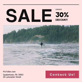 Image design template for sales - #banner #businnes #sales #CallToAction #salesbanner #surfer #wild #vacation #credit #woodland #sea #beach #person #wafe #surfboard