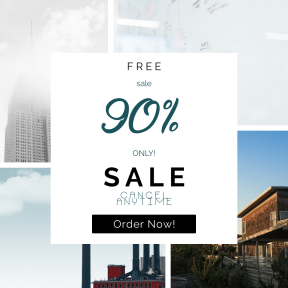 Image design template for sales - #banner #businnes #sales #CallToAction #salesbanner #minimalist #scrum #web #writing #cloud #estate #art #squares