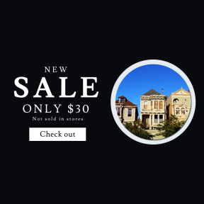 Image design template for sales - #banner #businnes #sales #CallToAction #salesbanner #outdoor #wall #victorian #real #san #vacation #property #park #building #spain