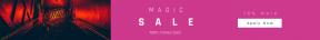 Leaderboard web banner template for sales - #banner #businnes #sales #CallToAction #salesbanner #escalator #bar #chemistry #hallway #neon #sign #dark #red