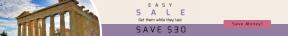 Leaderboard web banner template for sales - #banner #businnes #sales #CallToAction #salesbanner #honeymoon #landscape #stop #squares #architecture