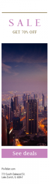 Skyscraper wide web banner template for sales - #banner #businnes #sales #CallToAction #salesbanner #architecture #high #street #orange #red #view #light #skyview #aerial #uae