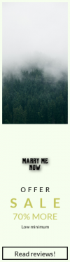 Skyscraper wide web banner template for sales - #banner #businnes #sales #CallToAction #salesbanner #brume #forest #tree #mountain #flora #fog #nature #outdoors