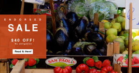 Card design template for sales - #banner #businnes #sales #CallToAction #salesbanner #vitamin #vegetable #stand #seller #cabbage #consumer