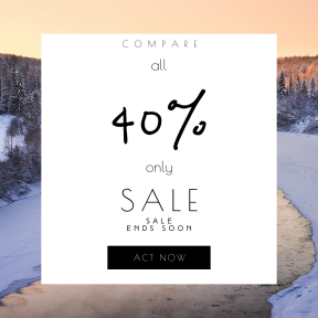 Image design template for sales - #banner #businnes #sales #CallToAction #salesbanner #sunrise #river #frozen #camera #travel #snow #russium #cold #stream #forest