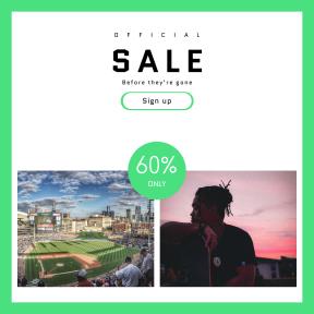 Image design template for sales - #banner #businnes #sales #CallToAction #salesbanner #recreation #blue #city #sky #skate #panorama